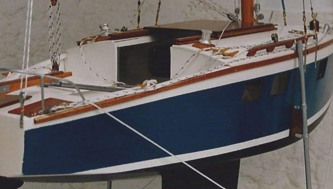 Maquette de Muscadet – Bateau de plaisance – Voilier croiseur côtier