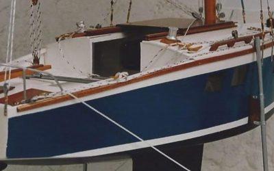 Maquette de Muscadet – Bateau de plaisance – Voilier croiseur côtier – Sloop – Plan Ph Harlé