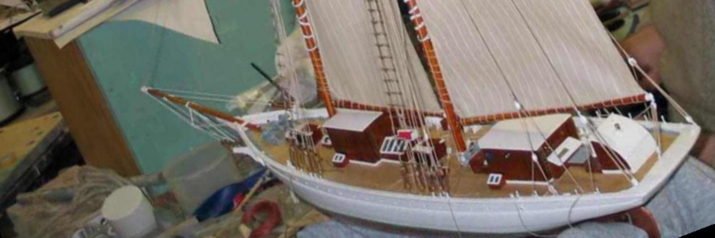 Maquette de bateau La Belle Poule Bateau école de la Marine Nationale