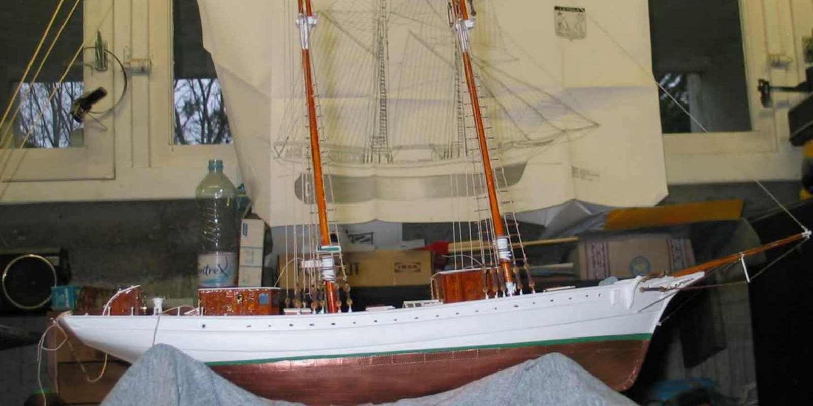 Maquette de La Belle Poule Bateau école de la Marine Nationale