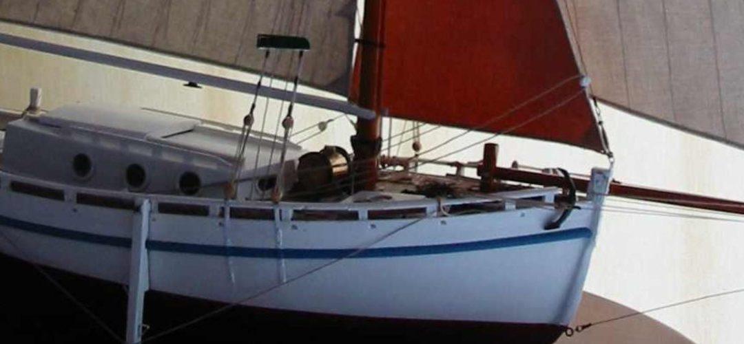Maquette de En père peinard – Langoustier – Bateau de pêche ancien à voile