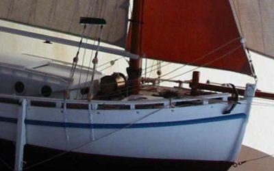 Maquette de En père peinard – Langoustier – Bateau de pêche ancien à voile – Côtre aurique