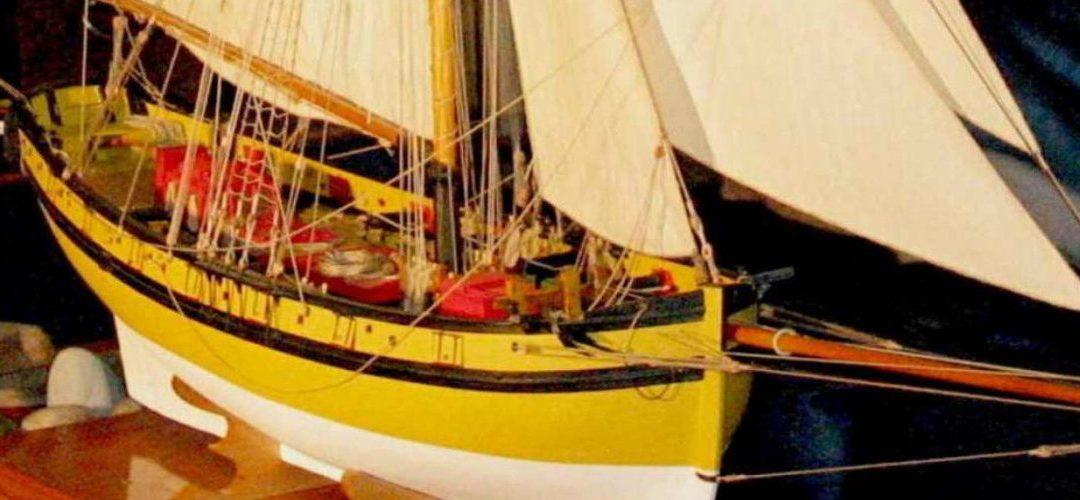 Maquette du Renard – Bateau du corsaire Surcouf