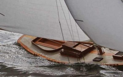 Maquette navigante de NY 40 – Bateau – Yacht classique – Voilier – Sloop aurique – Plan Herreshoff
