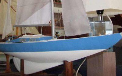Maquette de Solveig – Requin – Bateau de plaisance et de régate – Voilier – Sloop – Plan Gunnar L. Stenbäck
