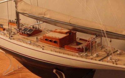 Maquette de Ranger – Bateau – Yacht classique – Voilier Coupe América classe J – Plan S Burgess & O Stephens