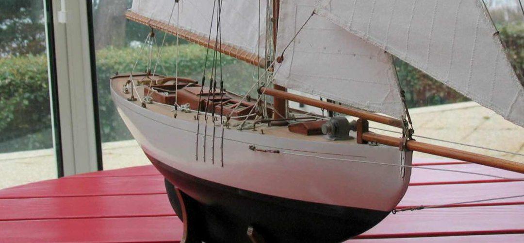 Maquette de Lady Maud – Bateau – Yacht classique – Voilier