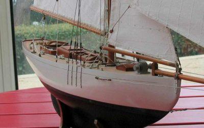 Maquette de Lady Maud – Bateau de Gérard d'Aboville – Yacht classique – Voilier – Côtre aurique – Plan A Luke