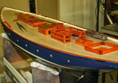 Maquette de bateau Mariette Yacht classique Voilier