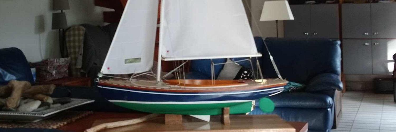 Maquette de voilier tofinou 7 bateau de plaisance