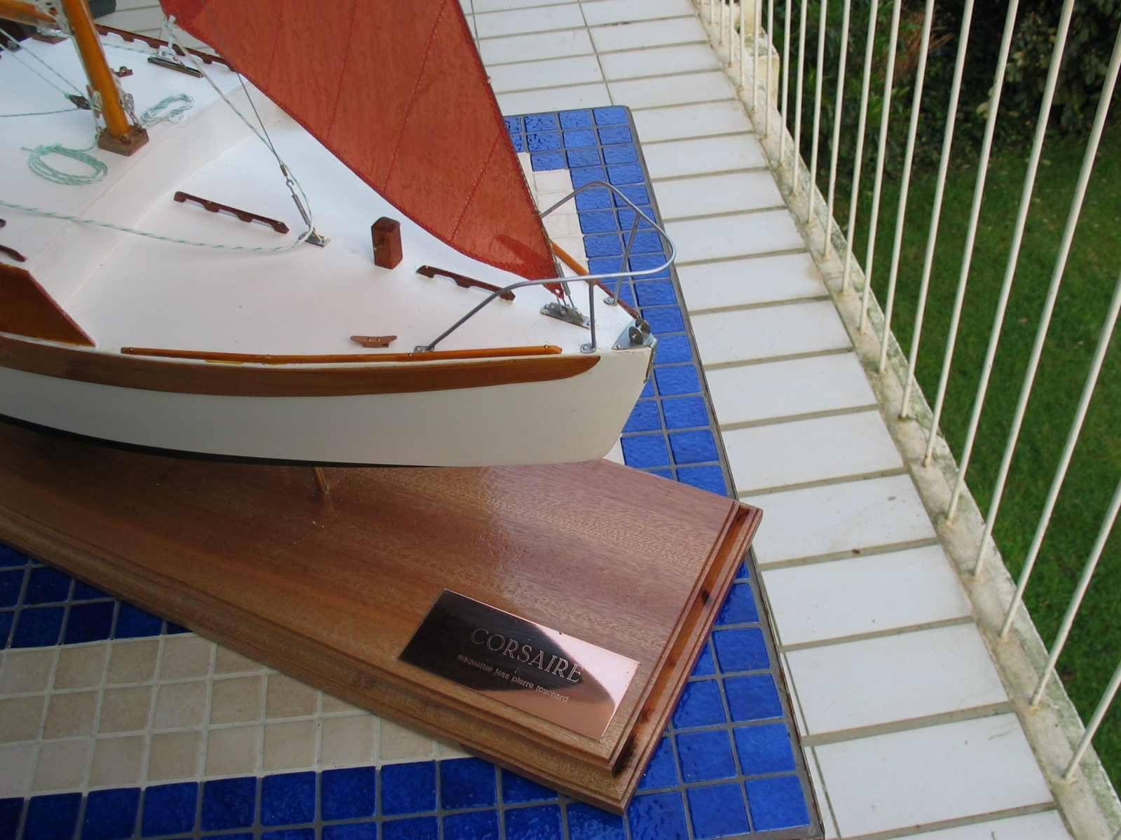 Maquette de Corsaire Bateau de plaisance Voilier croiseur côtier