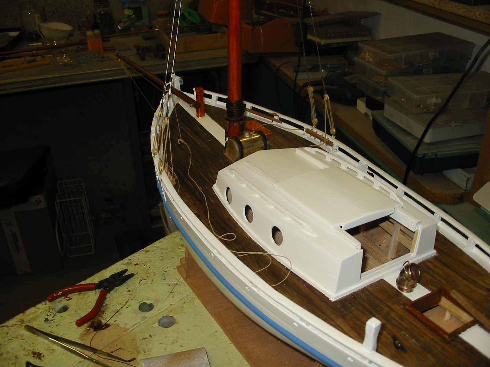 Maquette de En père peinard Langoustier Bateau de pêche ancien à voile