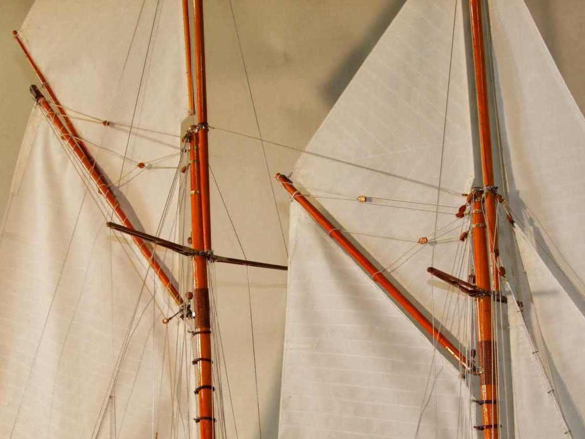 Maquette de Mariette Bateau Yacht classique Voilier