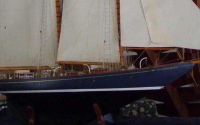 Maquette de Mariette – Bateau – Yacht classique – Voilier – Goélette aurique – Plan Herreshoff