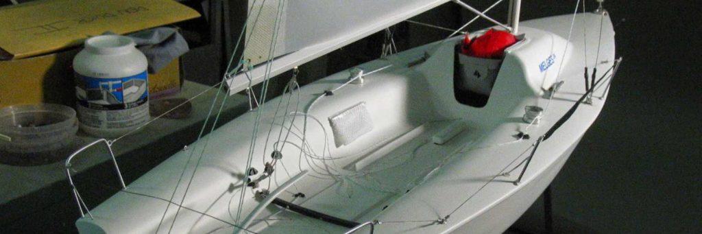 Maquette de bateau Melges 24 Bateau de régate Voilier