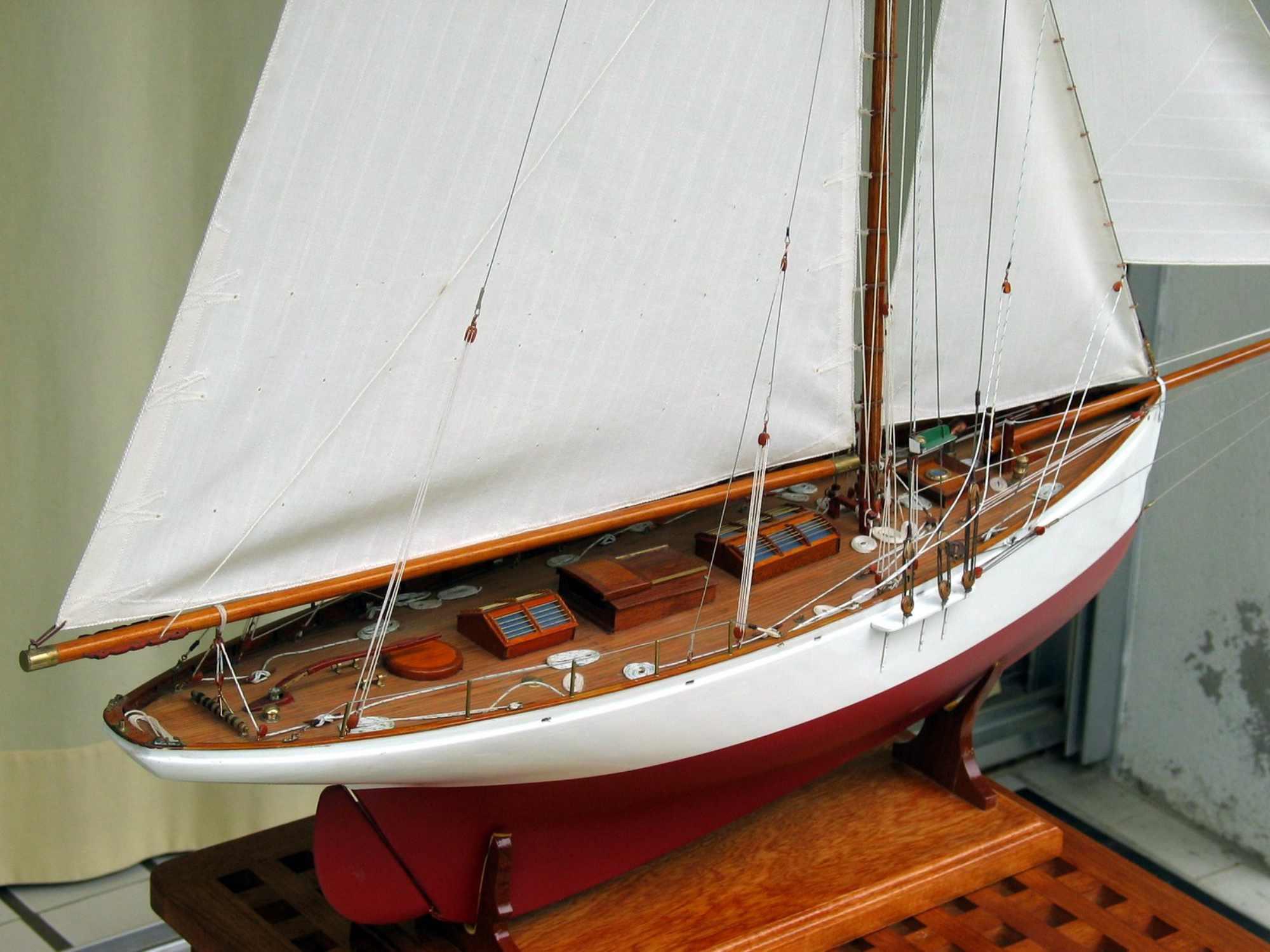 Maquette de Partridge  Bateau Yacht classique Voilier