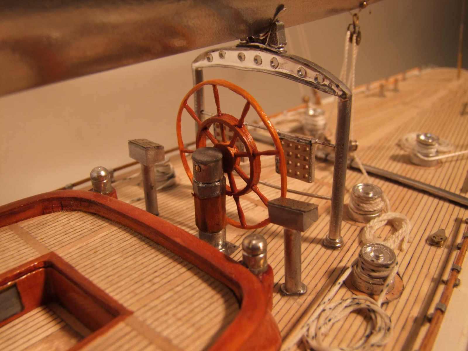 Maquette de Ranger Bateau Yacht classique Voilier Coupe América classe J