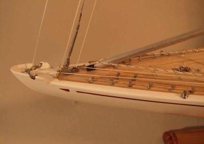 Maquette de bateau Ranger Yacht classique Voilier Coupe América classe J