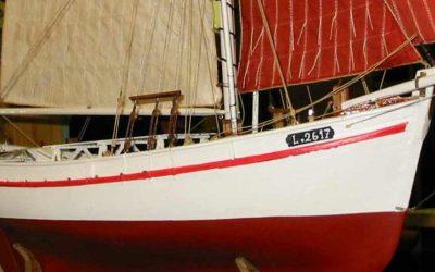 Maquettes de Thonier dundee – Bateau de pêche ancien à voile – Côtre aurique à tapecul