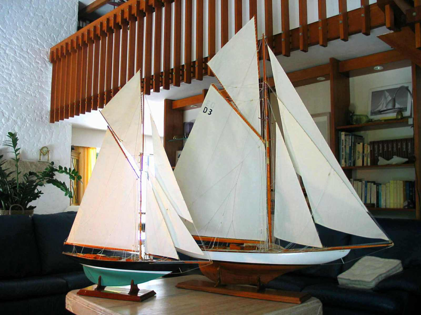 Maquette de Tuiga Yacht classique Bateau de classe JI Voilier Plan William Fife