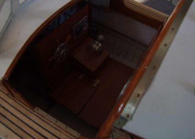 Maquette de vedette d'officiers bateau de servitude