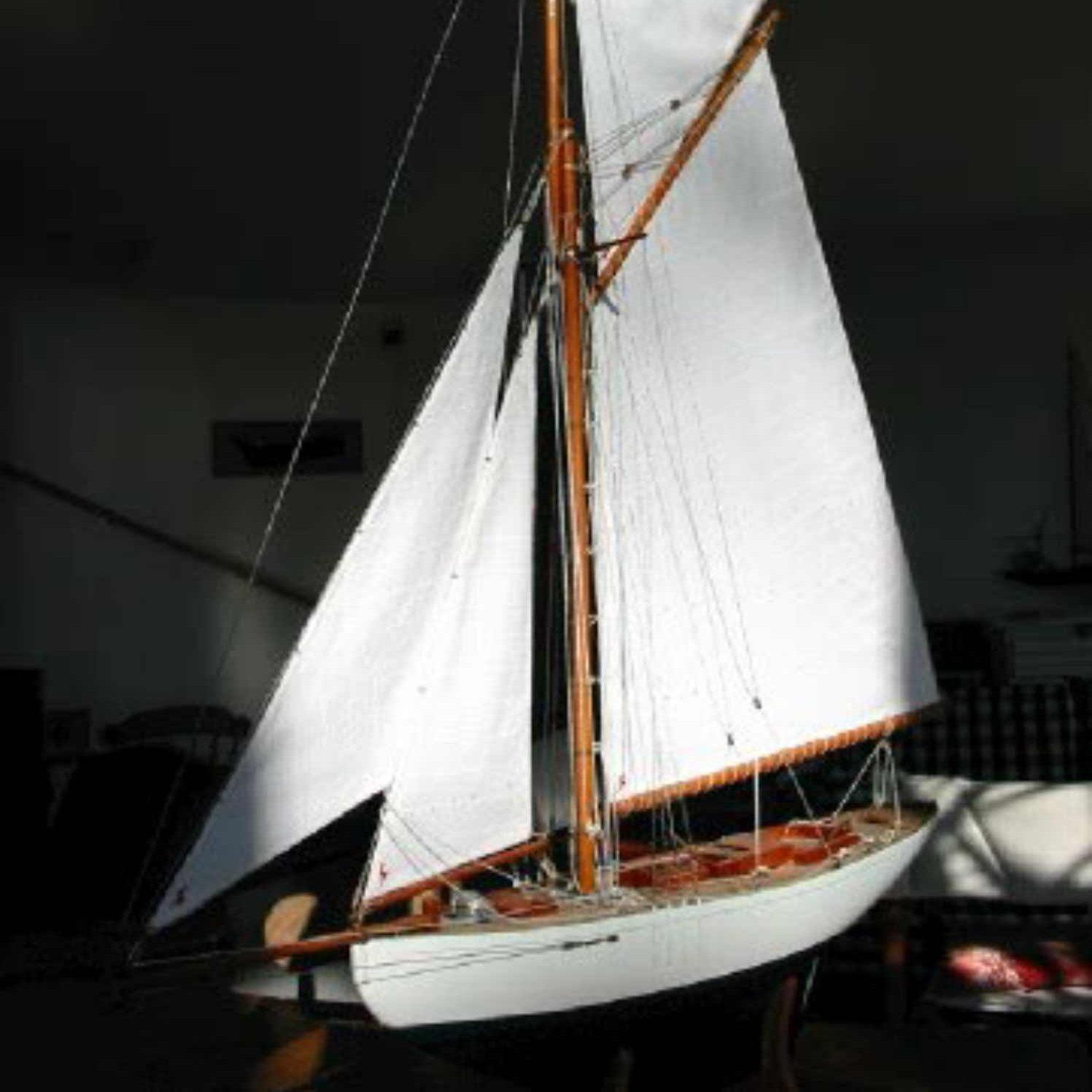 Maquette de Lady Maud Bateau Yacht classique Voilier