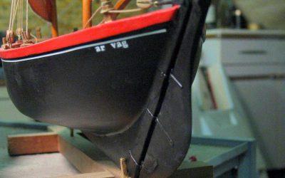 Maquettes de Sinago du Morbihan – Bateau de pêche ancien à voile – Chaloupe sardinière