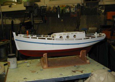Maquette de bateau Langoustier Bateau de pêche ancien à voile