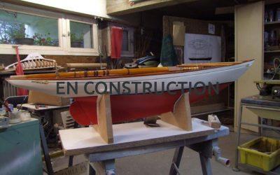 Maquette de Altaïr – Bateau – Yacht classique – Voilier – Goélette aurique – Plan William Fife III