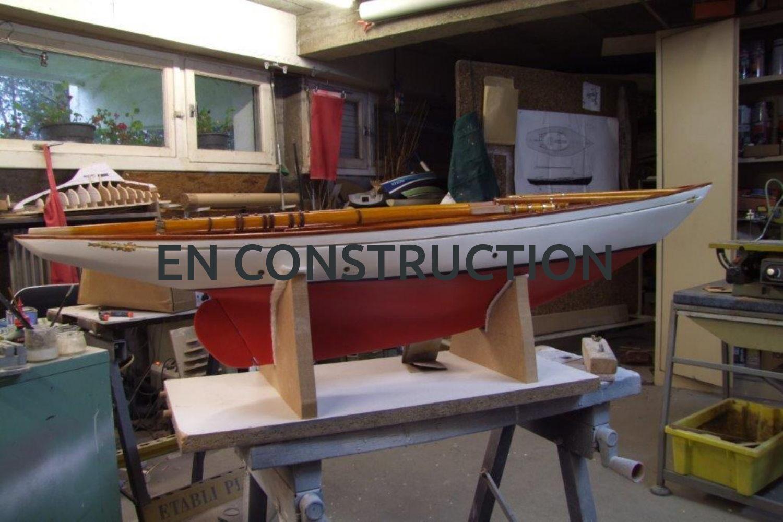Maquette de Altaïr – Bateau – Yacht classique – Goélette – Plan William Fife