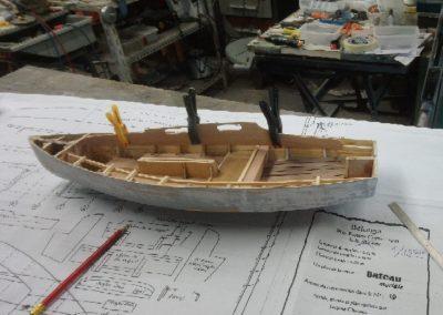 collage panneaux roof construction de maquette de Bélouga,bateau de plaisance,voilier croiseur côtier