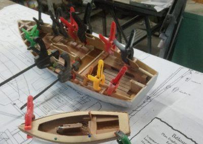 collage bordé construction de maquette de Bélouga,bateau de plaisance,voilier croiseur côtier