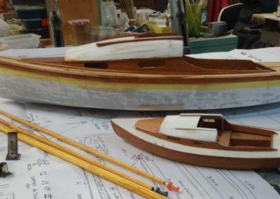 les 2 bélouga de profil construction de maquette de Bélouga,bateau de plaisance,voilier croiseur côtier