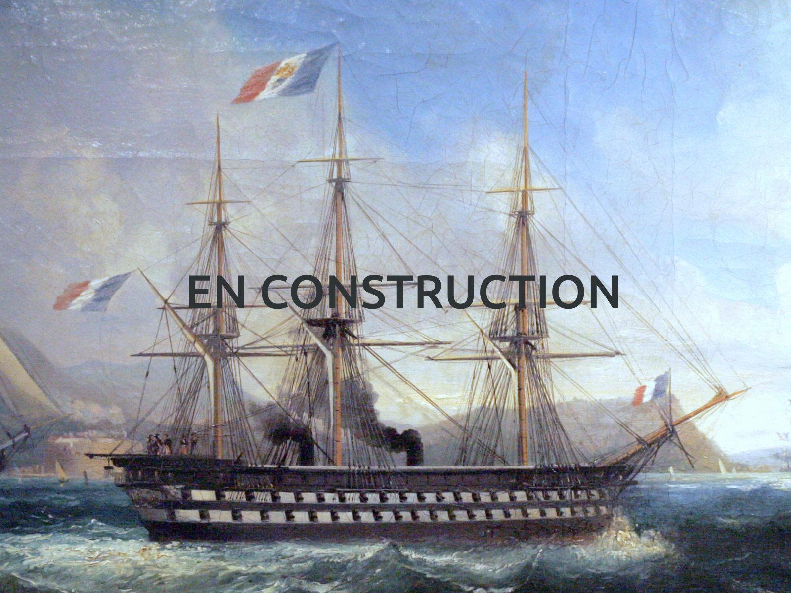 Maquette de bateau – Le Napoléon – Bateau de combat – Navire de ligne – Plan Henri Dupuy de Lôme
