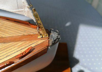 galerie détails, chaumard d'étrave de maquette de Bélouga,bateau de plaisance,voilier croiseur côtier