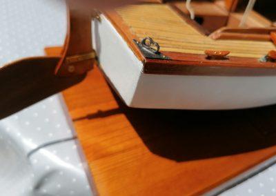 galerie détails, chaumard bâbord arrière de maquette de Bélouga,bateau de plaisance,voilier croiseur côtier