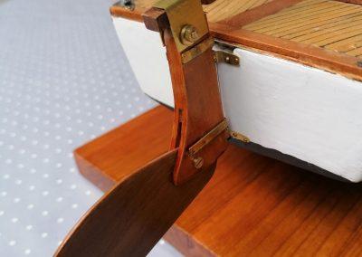galerie détails, safran de maquette de Bélouga,bateau de plaisance,voilier croiseur côtier