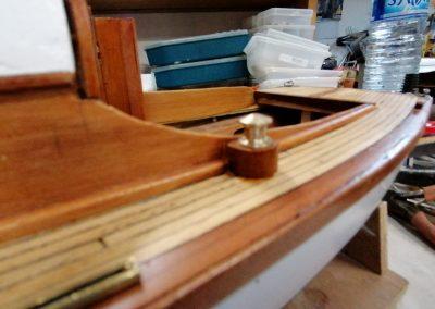 winch bâbord construction de maquette de Bélouga,bateau de plaisance,voilier croiseur côtier