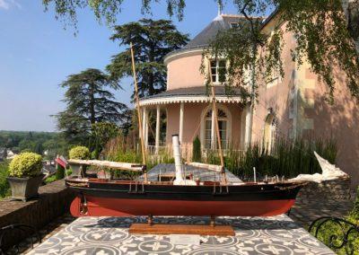 Maquette de YAO – Bélouga à Erik Orsenna – Bateau de plaisance – Voilier croiseur côtier – Sloop – Plan Eugène Cornu