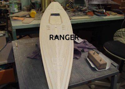 Maquette de Ranger - Bateau - Yacht classique - Voilier Coupe América classe J