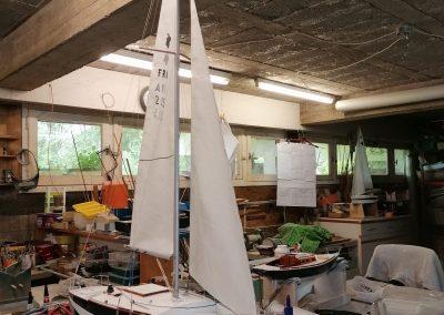 Maquette de Big or No - Muscadet - Bateau de plaisance - Voilier croiseur côtier - Sloop - Plan Ph Harlé